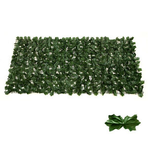 Artificial Hedge Ivy Leaf Garden Fence Wall Balcony Privacy Screen 0.5mx1m