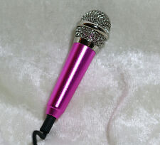 1/3 1/4 Miniature mini microphone mic BJD SD doll prop music instrument Pink