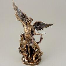 """St Michael - Bronze Archangel Angel Protector  9.5"""""""
