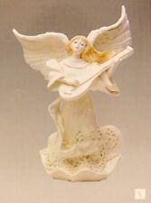 Decorative Resin Figurine Angel with Lute Christmas Decor