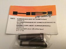 HPI SAVAGE XS Aluminum Shock Body Set (Gunmetal/2Pcs) 108073
