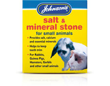 Johnsons Salt and Mineral Stone Block for Rabbits Guinea Pigs Gerbils Hamsters