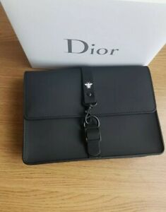 DIOR BEE BLACK CLUTCH POUCH BAG ACCESSORY SUMMER NEW VIP