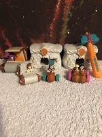 Vintage The Flintstones Movie Mcdonald's Toy Figure Lot B