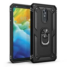For LG Stylo 5 /5X /5V Plus Case Ring Kickstand Cover + Tempered Glass Protector
