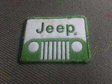 patch thermocollant brodé jeep vert L8cm H 6cm