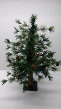 24 inch LODGE POLE PINE ARTIFICIAL CHRISTMAS TREE METAL BASE