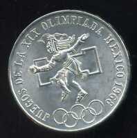 MEXIQUE  25 pesos 1968   ( SUP )  argent