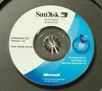 Genuine SanDisk Clip Version 1.0 Installation Mini CD Only **READ**