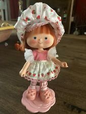 Vintage Strawberry Shortcake Doll With Stand.