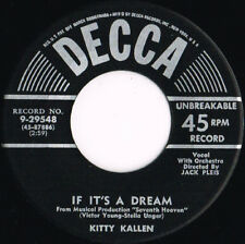 KITTY KALLEN if it's a dream U.S. DECCA 45rpm 9-29548_1955 original MINT