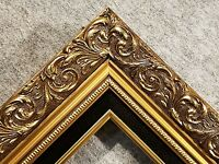 3.25 Classic GOLD black Ornate WOOD Picture Frame Wedding Frames4art 1216Gb