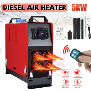 12V 5KW LCD Air Diesel Fuel Heater Planar for Boats Car Trucks Campervans UK