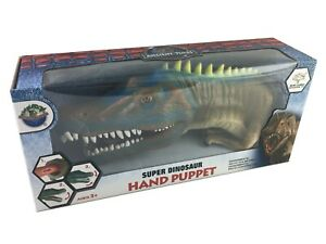 """10"""" SUPER Dinosaur Hand Puppet Realistic Details Jurassic Museum Play Toy Boxed"""