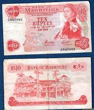 Ile Maurice – 10 Rupees 1967 Elisabeth II TTB 845992 – Mauritius
