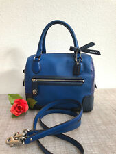 Coach Poppy Colorblock Mini Satchel Crossbody in Blue - Style 49757