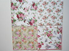 4 Papierservietten Napkins Rose Röschen Romantik  Decoupage