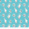 Disney Frozen Sisters Anna Sketch Teal Camelot 100% Cotton fabric by the yard