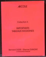 Catalogue vente tableaux modernes Oger Dumont 1991 NM