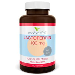 LACTOFERRIN 100mg bovine + Prebiotic Inulin - 120 capsules NO fillers or binders