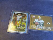 2011 & 2014 TOPPS & PANINI AARON RODGERS LOT OF 2 INSERT, PARALLEL CARDS