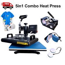 5in1 Combo Heat Press Machine Heat Press For Shirts Transfer Machine Swing Away