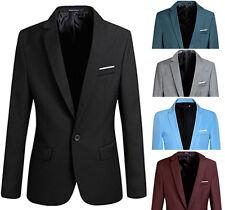 Men Stylish Slim Fit One Button Blazers Lightweight Casual Suit Jacket PK114