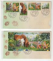 Australia 1996 Pets FDC x 2 including miniature sheet