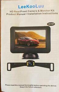 LeeKooLuu HD rear/front Camera and monitor kit HD 720 p