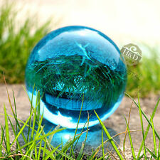 RARE Light Blue Quartz Magic Crystal Cut Glass Healing Ball Sphere Stand 40mm