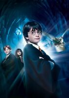 HARRY POTTER & THE PHILOSOPHER'S STONE Movie PHOTO Print POSTER Textless Art 003