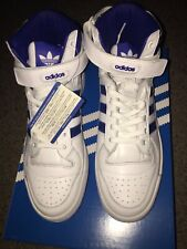 Adidas Forum Mid Refined White Blue Silver Originals Mens F37830 Size 9.5 Mens
