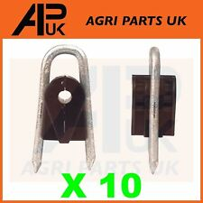 10x Electric Fence Staple on Insulators Poly Wire Rope tape Wood Post Galvanised
