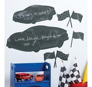 Wallies Fast Cars Peel and Stick Chalkboard Mural