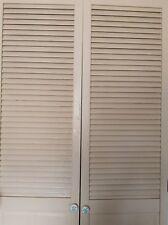 Original Antique Vintage Timber Wood Window Shutter Pantry double Panel Doors