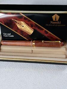 Pilot Namiki Maple Art Craft Rolling Ball Point Pen Wood Original Packaging