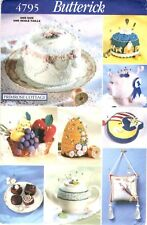 Butterick Sewing Pattern PIN CUSHIONS 4795 Primrose Cottage Bee Hive Cake UNCUT