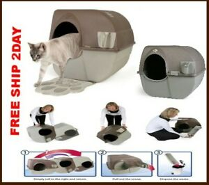 Best Automatic Cat Litter Box Scooping Robot Cleaner Self Cleaning Set Lid Trays