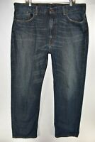 Levi's 550 Relaxed Fit Mens Jeans Size 40x32 Blue Meas. 40x31.5