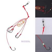 4Pcs 6/8/10/12 Carp Fishing Trap Explosion Hooks Pack Tackle Accessory with Barb