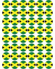 48 x Jamaica / Jamaican Flags Pre Cut Cupcake Toppers Premium Sugar Icing Sheet