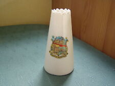 RARE SOUTH WIGSTON LEICESTER CREST - MODEL OF TALL VASE - ARCADIAN CRESTED CHINA