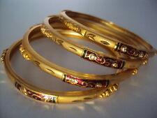 Beautiful Gold Plated Meenakari Bangles (size: 2.8): set of 4
