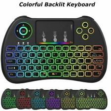 Wireless Touchpad Keypads Mini Colourful Keyboard H9 Air Mouse Remote Control US