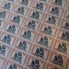 feuille sheet Briefmarke Bildhauer Aristide maillol Nr.1281 x50 1961 luxe mnh