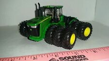 1/64 custom green 9620r 4wd tractor triples floatation duals farm toy