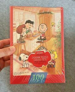 """NOS """"Christmas Fun"""" Peanuts Springbok Halmark Puzzle 100 Pieces (Sealed)"""