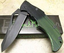 BENCHMARK VIPER II Folding Blade Lockback Pocket Clip Knife Green Black Handle