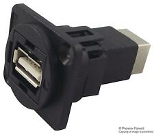 Cliff Electronic Components - CP30209N - Feedthru, Usb2, A To B, Black Plastic