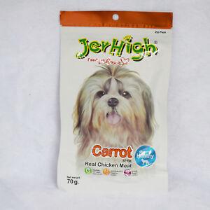 10 pcs*70g JerHigh Carrot Stick Dog Puppy Treats Vitamin Eye Vision Burning
